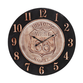 Americana Clock Bronze,aged Parchment