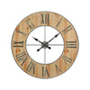 Foxhollow Wall Clock Natural Oak Stain,raw Steel