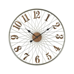 Moriarty Wall Clock Distressed Copper,silver