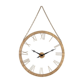 Geri Wall Clock Gold Leaf