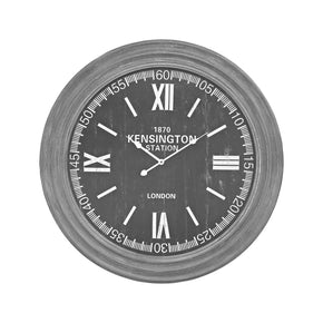 London Wall Clock In Preda Aged Grey