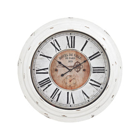 Clocks - Elk Group ELK-351-10246 Theodore Wall Clock In Antique White Antique White | 843558150366 | Only $156.00. Buy today at http://www.contemporaryfurniturewarehouse.com