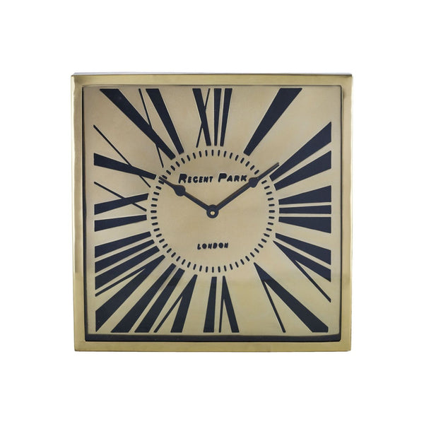 Regent Park Wall Clock Gold