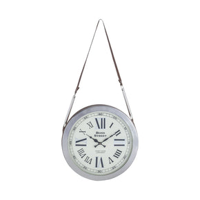 Bond Street Wall Clock Polished Nickel