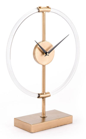 Clocks - Zuo Modern ZUO-A10990 Clear Clock Gold | 842896124237 | Only $94.80. Buy today at http://www.contemporaryfurniturewarehouse.com