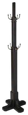 Webster Transitional Costumer Black Coat Rack