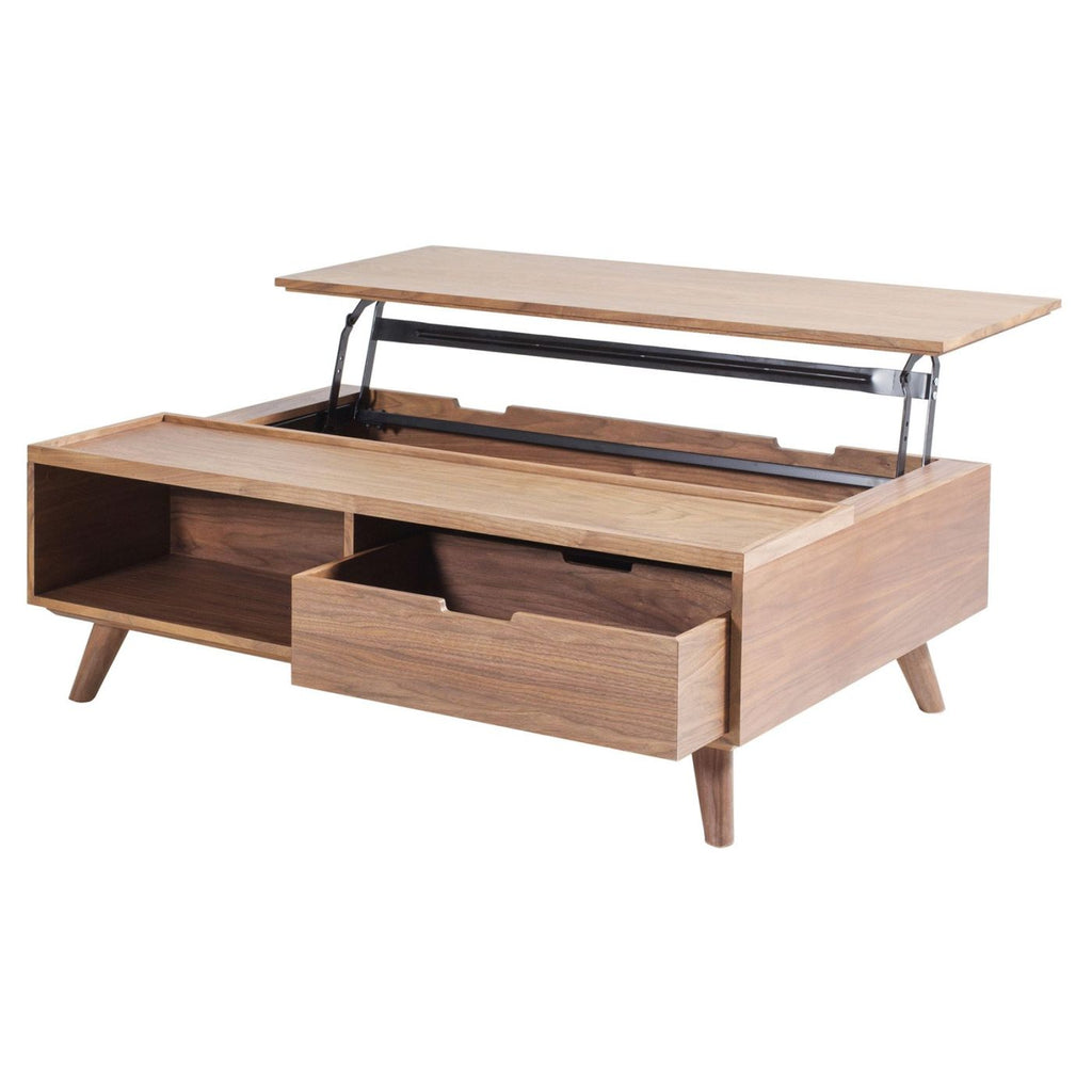 Buy New Pacific Direct 1030006 Pascal Lift Top Rectangular Coffee Table Storage And Drawer Walnut At Contemporary Furniture Warehouse