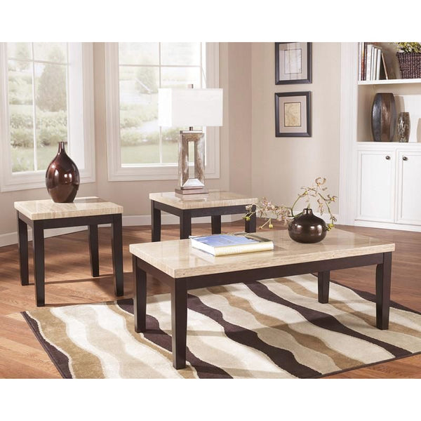 Signature Design By Ashley Wilder 3 Piece Occasional Table Set Dark Brown Coffee