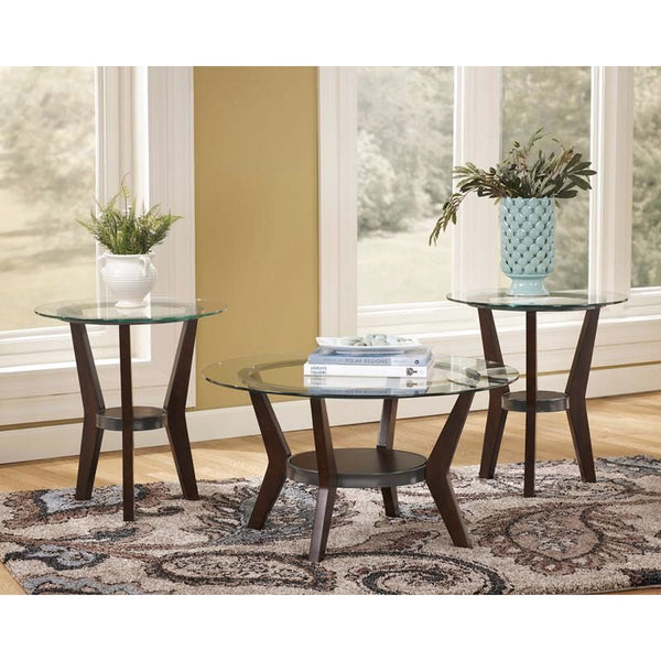 Signature Design By Ashley Fantell 3 Piece Occasional Table Set Dark Brown Coffee