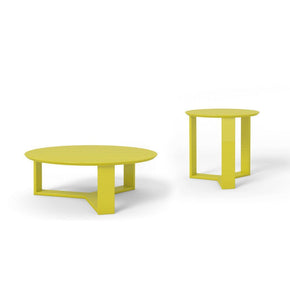 Madison 2-Piece Accent Table Living Room Set In Lime Gloss Coffee