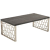 Coffee Tables - Armen Living LCSKCOBLMT Skyline Coffee Table Stainless Steel / Oak | 700220756991 | Only $550.00. Buy today at http://www.contemporaryfurniturewarehouse.com