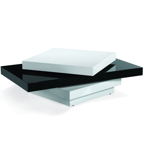 Armen Living Modern Swivel Coffee Table In Black And White High Gloss Finish LCT54COBW | 610395489290| $500.00. Coffee Tables - . Buy today at http://www.contemporaryfurniturewarehouse.com