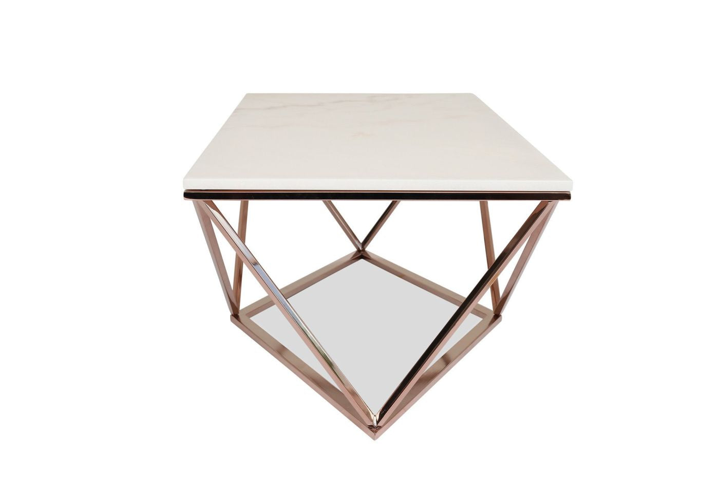 Buy Edloe Finch Ef Z1 Ct001m Aria Rose Gold Coffee Table With White