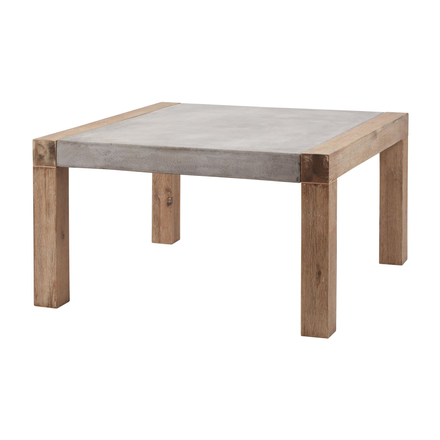 Coffee Table Desk.Arctic Small Square Coffee Table Brushed Concrete Oak