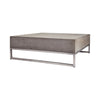 Bulwark Urban Coffee Table Waxed Concrete and Stainless Steel