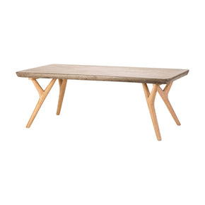 Twigs Coffee Table Concrete,natural Oak Woodtone