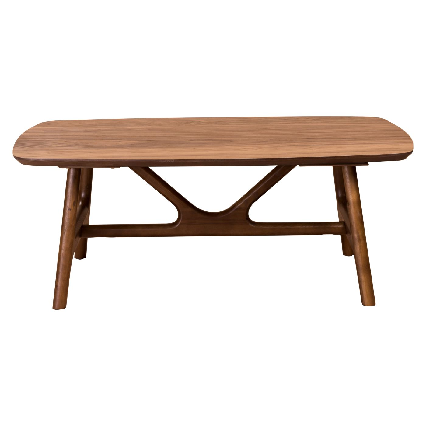 "Euro Style Travis 48"" Coffee Table in American Walnut EURO"