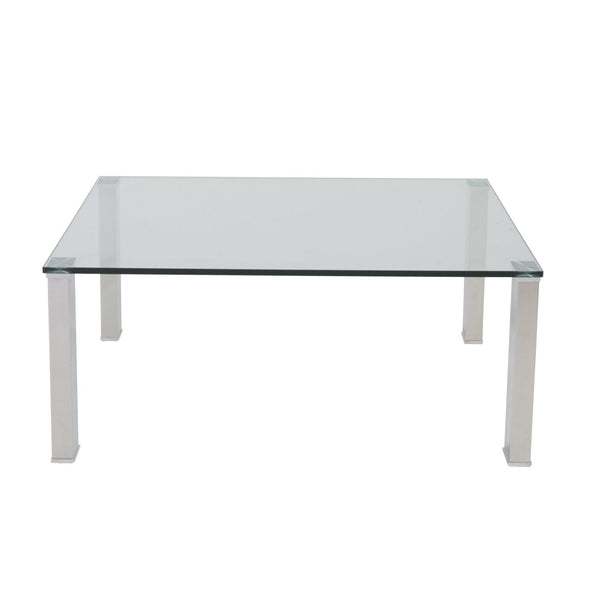 Glass Coffee Table With Stainless Steel Legs: Buy Euro Style EURO-38702-KIT Beth Square Coffee Table