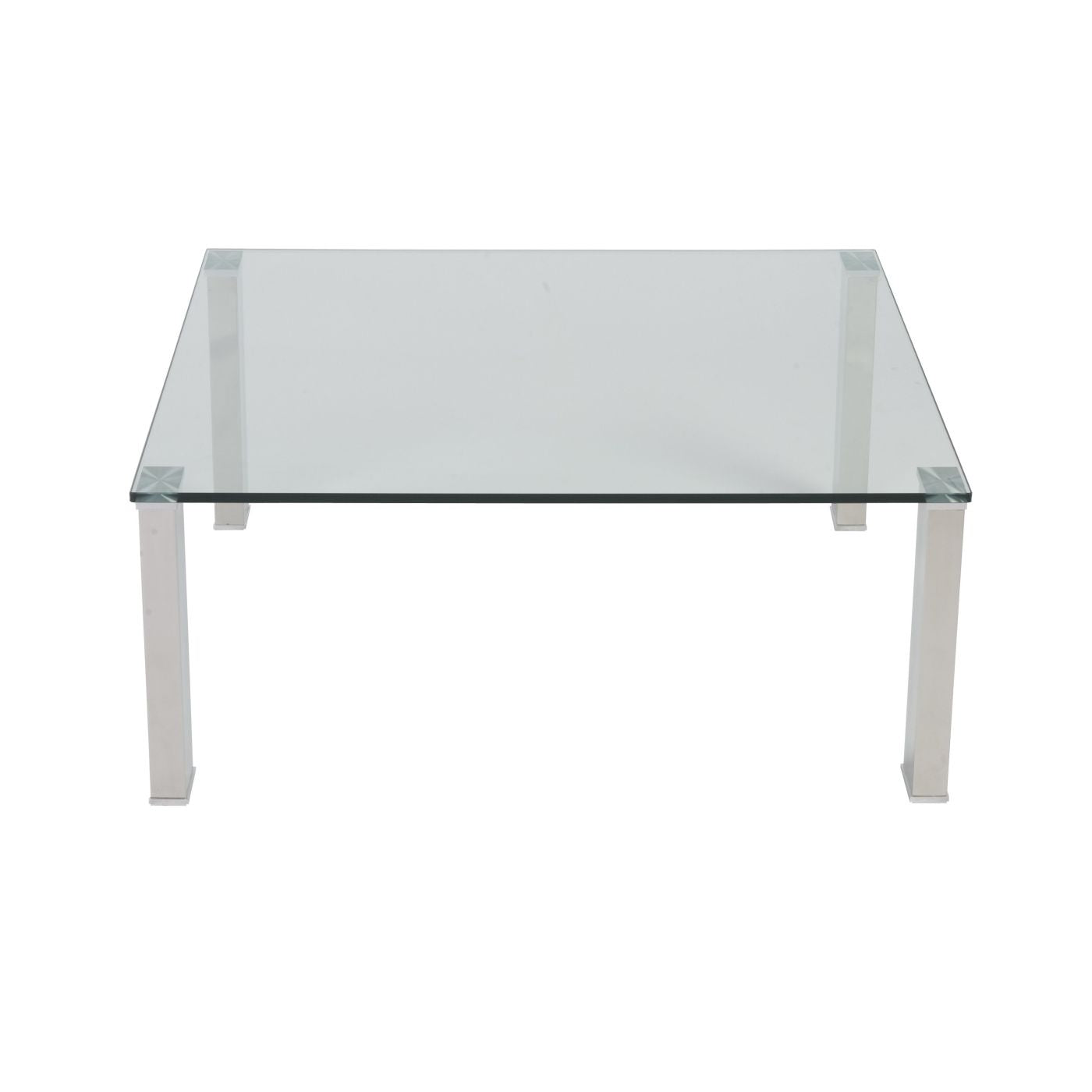 Square Glass And Steel Coffee Table: Buy Euro Style EURO-38702-KIT Beth Square Coffee Table