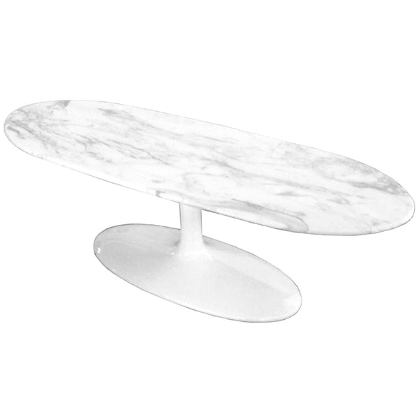 Squaval Marble Coffee Table White