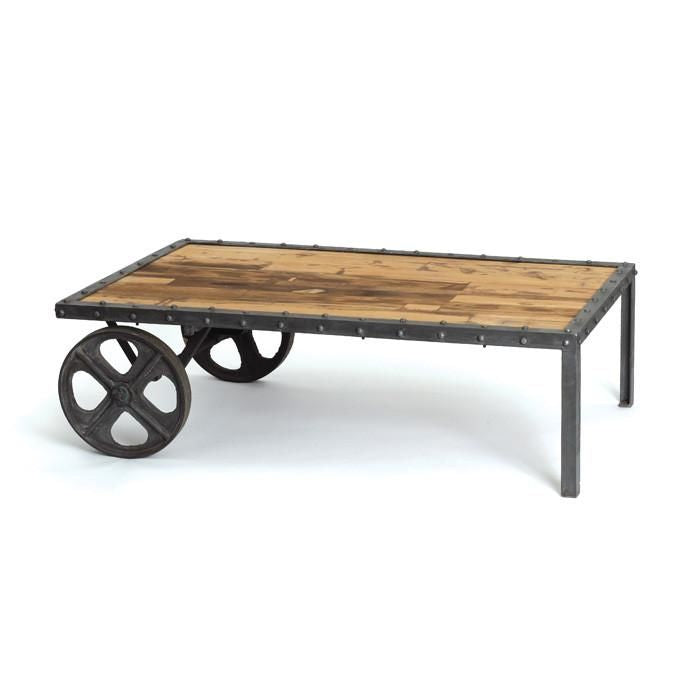 Buy Furncor Fc 12511 Industrial Cart Coffee Table In Steel And