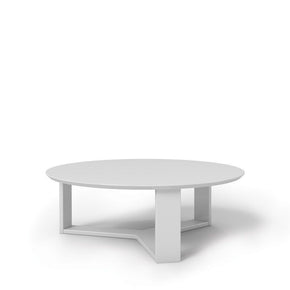 Madison 1.0- 35.78 Round Accent Coffee Table In White Gloss