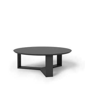 Madison 1.0- 35.78 Round Accent Coffee Table In Black Gloss