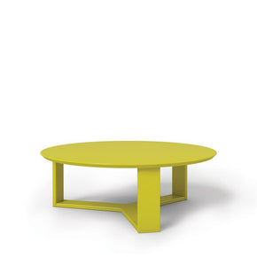 Madison 1.0- 35.78 Round Accent Coffee Table In Lime Gloss