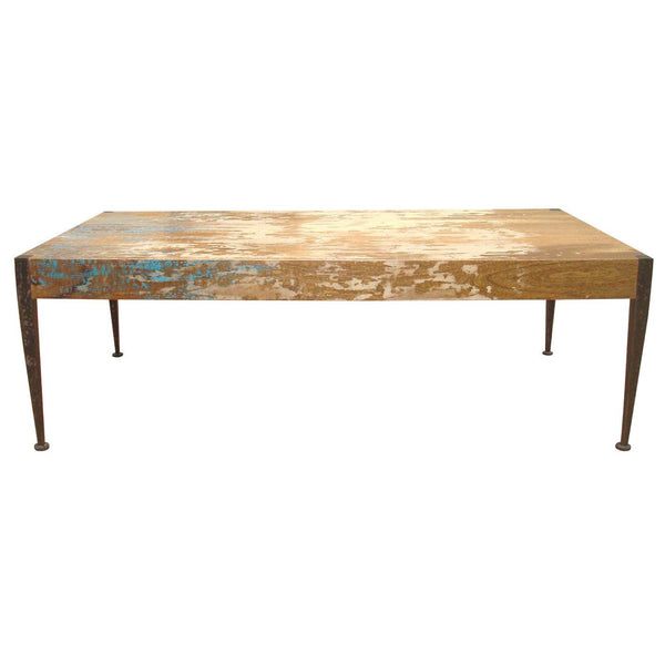 Mango Wood Coffee Table Distressed Gray: Moes Home Collection Astoria Rustic Industrial Unfinished