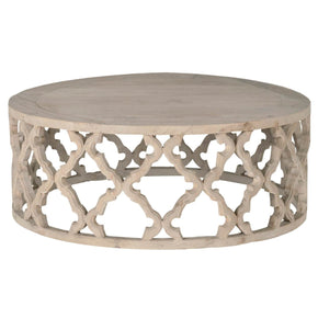 Coffee Tables - Orient Express Furniture 8027-L.SGRY-ELM Clover Large Round Coffee Table Smoke Gray Recycled Wood | 842279104252 | Only $1129.00. Buy today at http://www.contemporaryfurniturewarehouse.com