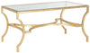 Alphonse Coffee Table Gold/Tempered Glass Top