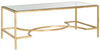 Inga Coffee Table Gold/Tempered Glass Top
