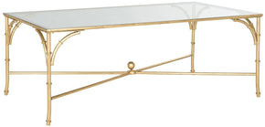 Maurice Coffee Table Gold/tempered Glass Top
