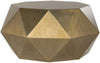 Astrid Faceted Coffee Table Brushed Brass