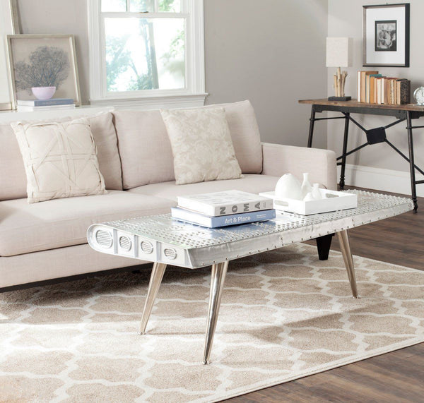 Aviator Coffee Table Silver