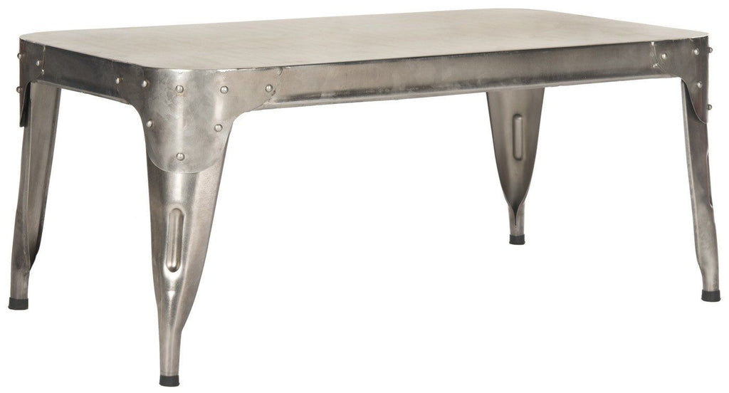 Classsic Industrial Style Iron Coffee Table Dark Silver