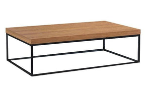 Prairie 47X30 Coffee Table Walnut Top / Black Legs