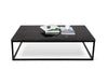 Coffee Tables - TemaHome 9500.623097 Prairie 47X30 Marble Coffee Table Black Marble Top / Black Lacquered Steel Legs | 5603449623097 | Only $858.00. Buy today at http://www.contemporaryfurniturewarehouse.com