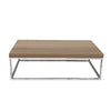 Prairie 47X30 Coffee Table Walnut Top / Chrome Legs