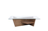 Oliva Coffee Table Walnut / Glass Top