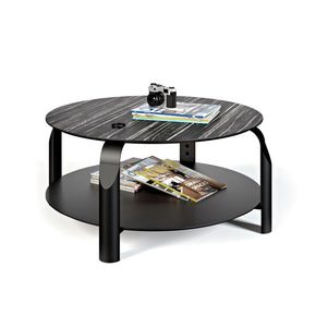 Scale Coffee Table Ebony & Ivory / Black