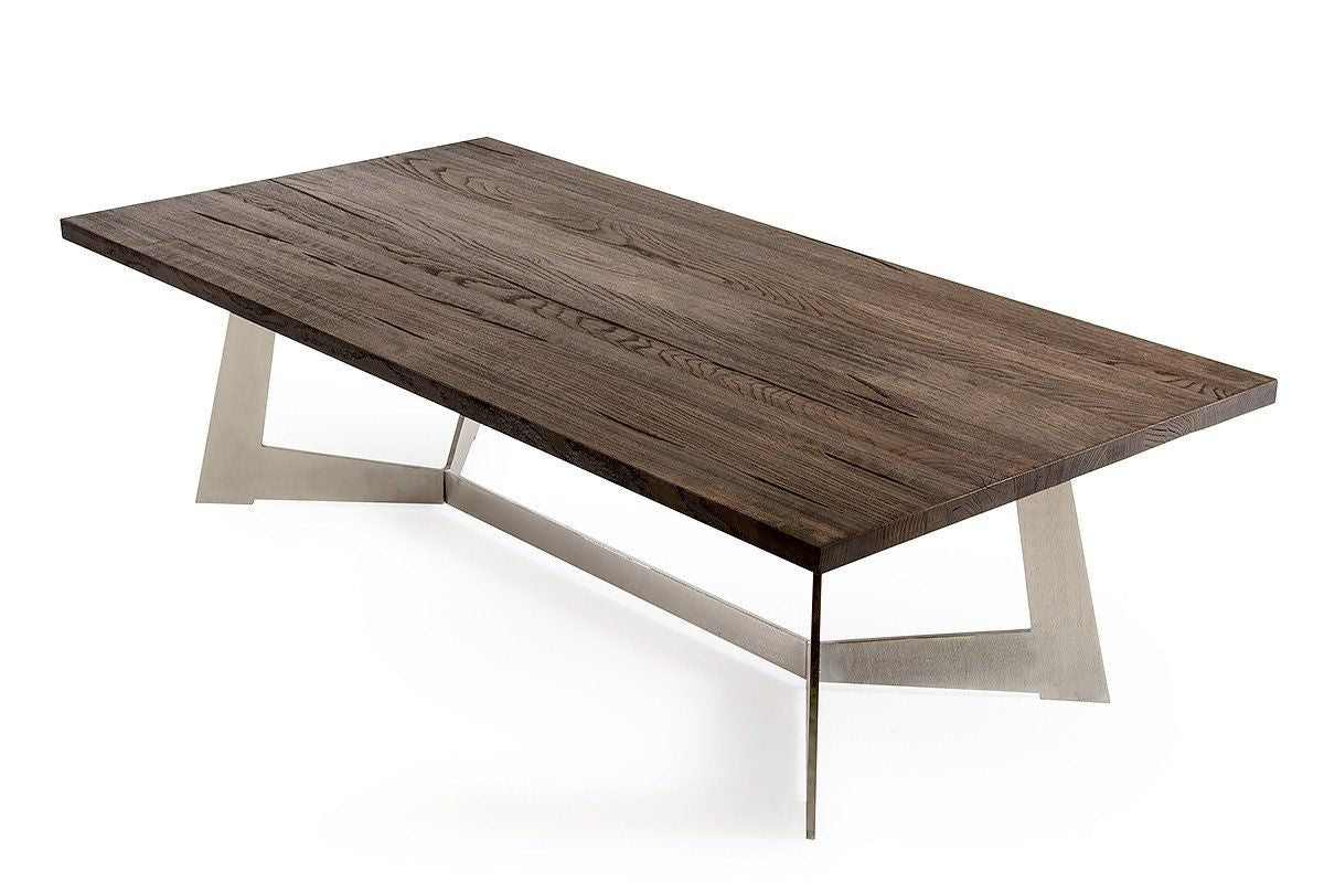 Vig furniture modrest wharton modern dark aged oak coffee for Contemporary furniture warehouse