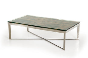 Coffee Tables, Sale - Vig Furniture VGEWF1193-2AB Modrest Santiago Modern Rectangular Wood Mosaic Coffee Table | 840729139304 | Only $487.80. Buy today at http://www.contemporaryfurniturewarehouse.com