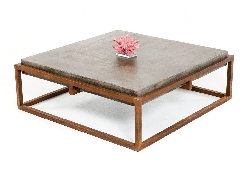 Vig Furniture VGGR692637 Industrial Modern Square Concrete and Rust ...