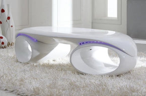 Coffee Tables - Vig Furniture VGGU1174CT Contemporary Glossy White Coffee Table With Led Lights | Only $689.80. Buy today at http://www.contemporaryfurniturewarehouse.com