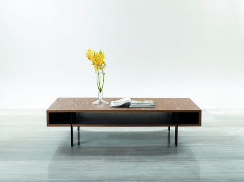 Stilt Modern Industrial Walnut Coffee Table