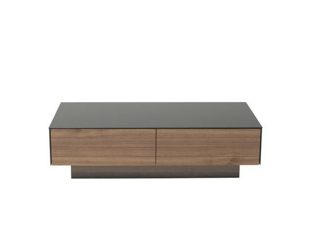 Modern Black Glass Coffee Table.Vig Furniture Vghb215a Wal Modrest Darius Modern Walnut Coffee Table With Black Glass Top Sale At Contemporary Furniture Warehouse Today Only