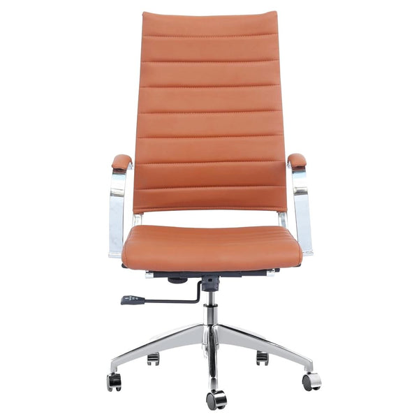 Sopada Conference Office Chair High Back Light Brown
