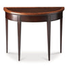 Hampton Transitional Demilune Demilune Console Table Dark Brown