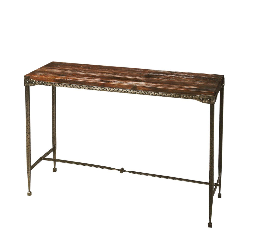 Transitional Rectangular Console Table Multi-Color